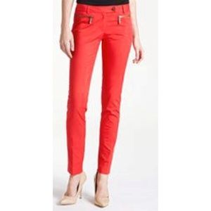 Michael Kors red ankle cropped pants